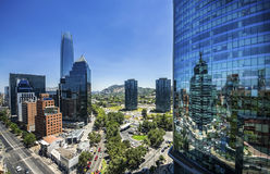 Centro de Costanera - Santiago - Chile Foto de archivo