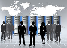 Centro de dados admin Imagens de Stock Royalty Free