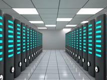 Centro de datos con los servidores modernos