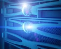 Centro de datos moderno del servidor fotos de archivo