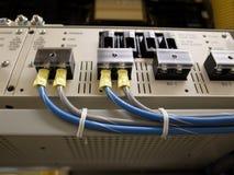 Centro de datos - unidad de distribución de potencia (PDU) Fotografía de archivo libre de regalías