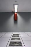 Centro de datos y protección contra los incendios refrescados aire Imágenes de archivo libres de regalías