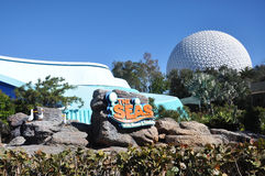 Centro de Disney Epcot e os mares Fotos de Stock Royalty Free