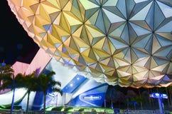 Centro de Disney Epcot en la noche Foto de archivo libre de regalías
