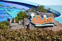 Centro de Disney Epcot y los mares Imagen de archivo libre de regalías