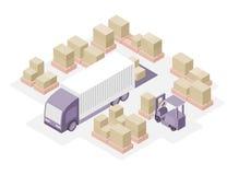 Centro de distribución de Warehouse Fotografía de archivo