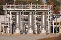 Centro de distribuição do gás natural Imagem de Stock Royalty Free