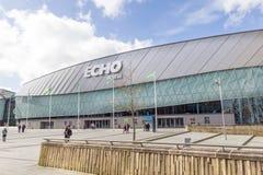 Centro de Echo Arena y de convenio en los reyes Dock, Liverpool, Merseyside Imagen de archivo libre de regalías