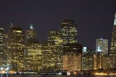 Centro de Embarcadero na noite foto de stock royalty free