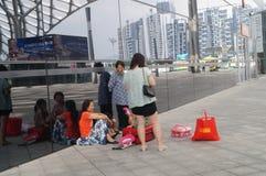 Centro de esportes da baía de Shenzhen que constrói a paisagem interior Foto de Stock Royalty Free
