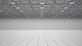Centro de exposición vacío 3d rinden ilustración del vector