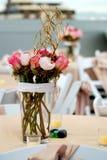 Centro de flores de la boda Foto de archivo