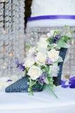Centro de flores de la recepción nupcial Fotos de archivo libres de regalías