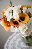 Centro de flores del ramo de la boda Imagenes de archivo