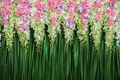 Centro de flores verde del contexto Foto de archivo libre de regalías