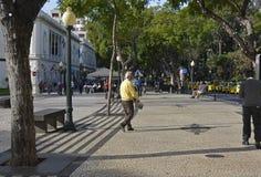 Centro de Funchal, Madeira, Portugal Imagen de archivo libre de regalías