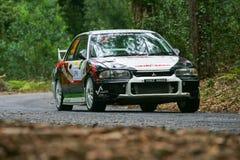 centro de gate7 motorsport葡萄牙rallye 免版税图库摄影