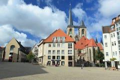 Centro de Halberstadt imagen de archivo