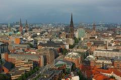 Centro de Hamburgo Imagen de archivo