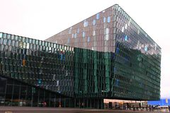 Centro de Harpa Concert Hall And Conference imagem de stock royalty free