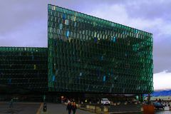 Centro de Harpa Concert Hall And Conference imagens de stock royalty free