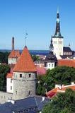 Centro de Hictoric de Tallinn foto de stock royalty free
