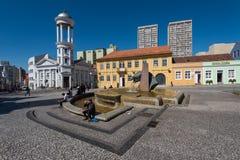 Centro de Hisorical de la ciudad de Curitiba Fotos de archivo libres de regalías