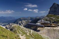 Centro de informação das montanhas de Karwendel Fotos de Stock Royalty Free