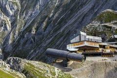 Centro de informação das montanhas de Karwendel Imagem de Stock