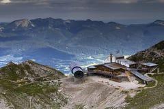 Centro de informação das montanhas de Karwendel Foto de Stock Royalty Free