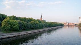 Centro de Kaliningrad fotos de stock royalty free