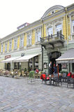 Centro de Kaunas agosto 21,2014-Historic de Kaunas en Lituania Imagenes de archivo