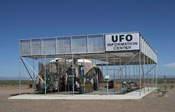 Centro de la atalaya y de información del UFO en Colorado foto de archivo