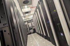 Centro de la base de datos con los servidores Imágenes de archivo libres de regalías