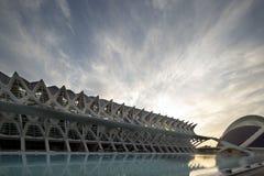Centro de la ciencia de Valencia Foto de archivo libre de regalías