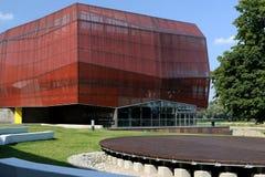 Centro de la ciencia del planetario de Varsovia imagenes de archivo