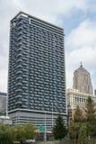 Centro de la ciudad de Chicago, agosto de 2018 imagen de archivo