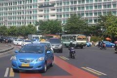 Centro de la ciudad cruce giratorio de Jakarta, Indonesia del hotel Imágenes de archivo libres de regalías