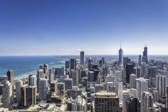 Centro de la ciudad de Chicago Foto de archivo