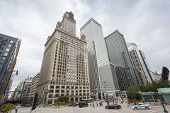 Centro de la ciudad de Chicago Imagen de archivo libre de regalías