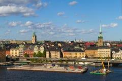 Centro de la ciudad de Estocolmo Imágenes de archivo libres de regalías