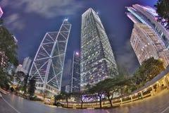 Centro de la ciudad de Hong Kong, China Foto de archivo libre de regalías