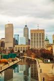 Centro de la ciudad de Indianapolis imagen de archivo