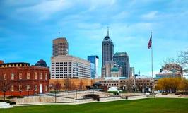 Centro de la ciudad de Indianapolis Fotografía de archivo libre de regalías