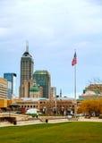 Centro de la ciudad de Indianapolis Foto de archivo