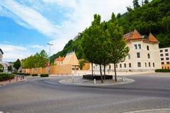 Centro de la ciudad de la capital de Liechtenstein, Imagen de archivo libre de regalías