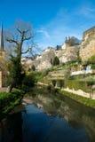 Centro de la ciudad de la ciudad de Luxemburgo Foto de archivo