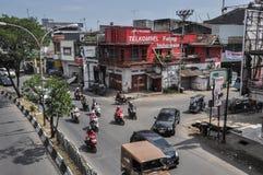 Centro de la ciudad de la ciudad de Makassar, Indonesia foto de archivo libre de regalías