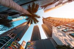 Centro de la ciudad de la ciudad de Miami imágenes de archivo libres de regalías