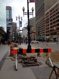 Centro de la ciudad de la ciudad de Winnipeg Imagen de archivo
